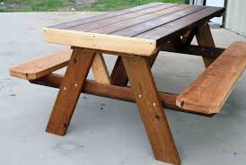 Free Wooden Picnic Table Plans by Wood Rustic Picnic Tables Plans Design Ideas And Decor