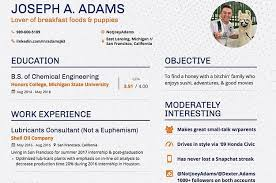 This College Student Made A Dating Resume And It     s Kind Of