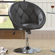 Contemporary Chairs For Living Room by Dining Chairs And Bar Stools Contemporary Round Tufted Black