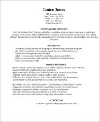 Day Care Teacher Job Description For Resume by Professional Head Start Teacher Templates To Showcase Your Talent