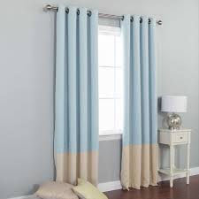 home decoration blue curtains bedroom one drawer door night