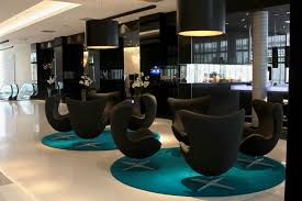 Decoration Home Office Design Furniture Lighting Modern Hotel Lobby Furniture On Round Carpet And Sleek Floor Plus