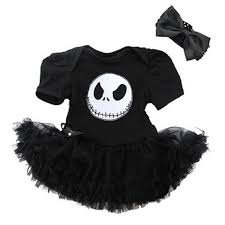 halloween nightmare before christmas jack baby black bodysuit