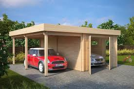 house with carport garage and carport combination type h 44mm 6 x 6 m u2013 summer