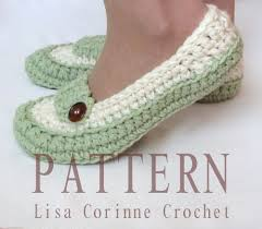 crochet slippers pattern womens house slippers ladies