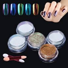 elite99 5pcs chameleon colour changing mirror chrome powder