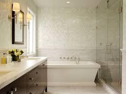Cream Subway Tile Backsplash by Chic Sophisticated Bathroom Ivory Cream Gray Mosaic Tiles Damask