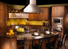 kitchen contempo oval kitchen island with stainless steel