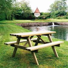 Plans For Wood Picnic Table by Dining Furniture Wooden Picnic Table Benches Plans Wood Picnic