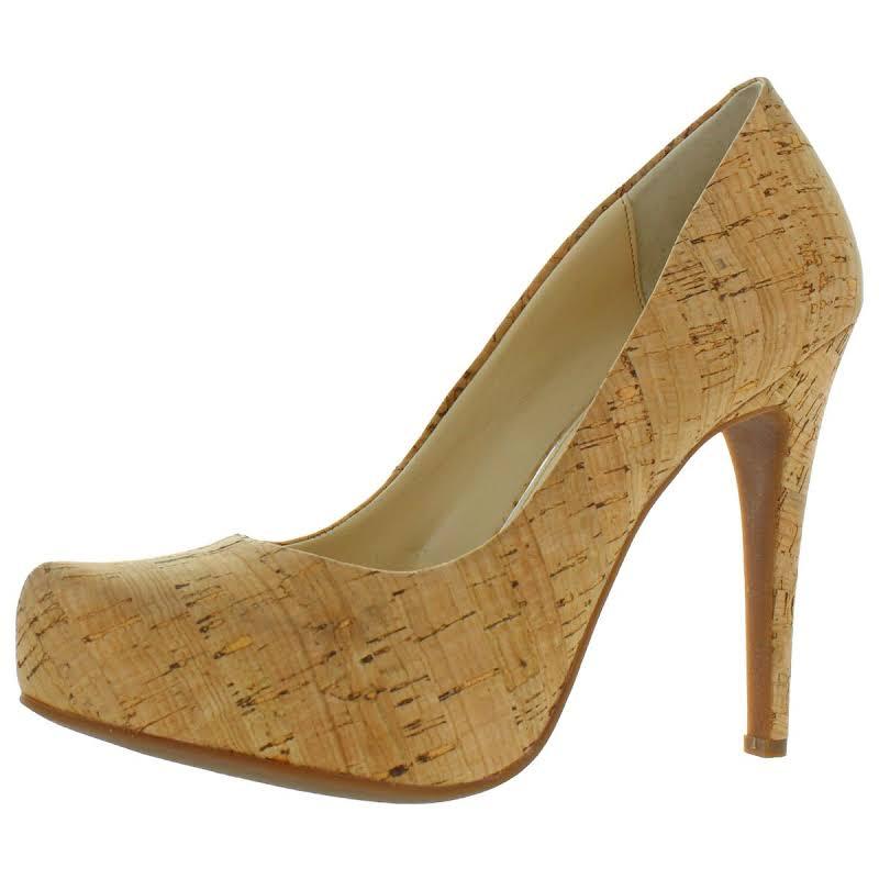 Jessica Simpson Parisah 6 Cork Slip On Pumps Tan 8 Medium (B,M)