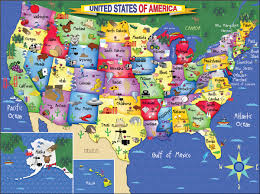A Map Of America by United States Of America Puzzle White Mountain Puzzles