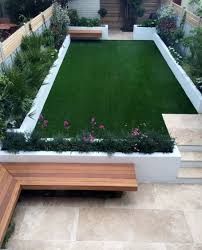 Front Garden Design Ideas Low Maintenance Urban Low Maintenance Garden Raised Render Block Beds Artificial