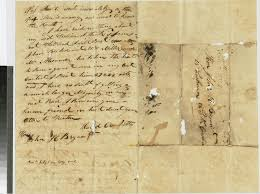 Ecu Campus Map Letter From David Crockett To John H Bryan May 26 1829