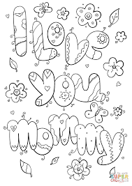 i love you mommy coloring page free printable coloring pages