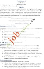 Sample Resume For Admin Assistant by Resumes For Administrative Assistant Free Resume Example And