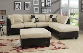 Living Room Settee Furniture by Chocolate Sectional Couch 3 Pc Set Microfiber Sofa Sectionals Ebay
