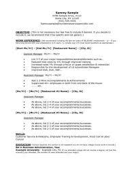 Resume Template   Bar Manager Job Description Examples Pertaining