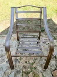Spray Painting Metal Patio Furniture - patio furniture revamp