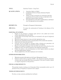 substitute teacher cover letter sample resume cover letter with     happytom co