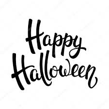 black and white halloween backgrounds happy halloween brush lettering black letters isolated on white