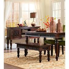home decorators collection maharaja walnut wood dining bench