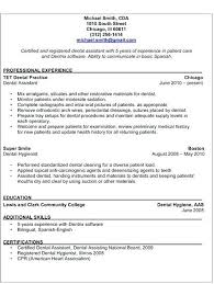 Student Resume Examples No Experience by Dental Assistant Resume Skills U2013 Okurgezer Co