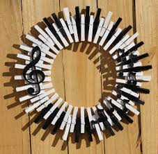 Music Home Decor by Music Wreath Piano Keys Wreath Musical Notes Treble Clef