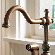 faucets kitchen antique copper kitchen faucet with sprayer