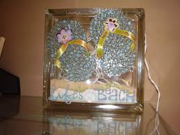 Craft Ideas Home Decor Glass Block Summer Craft My Craft Projects Pinterest Glass