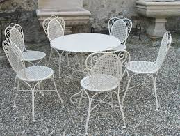 Black Wrought Iron Patio Furniture Sets by Furniture Wrought Iron Patio Set With Excellent White Wrought