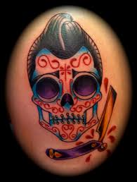 traditional owl skull and flowers tattoos all tattoos for men