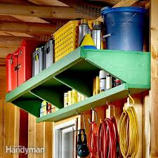 Build Wood Garage Shelves by Easy Garage Storage Solutions Family Handyman