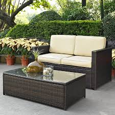 Patio Furniture Lowes Canada - shop crosley furniture palm harbor 2 piece wicker patio