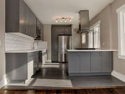 contemporary kitchen with flush light u0026 u shaped in denver co