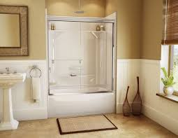 Walk In Shower Ideas For Small Bathrooms Glass Door Beside Calm Wall Paint Small Bathroom Designs With Walk