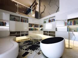Modernist Interior Design Niches And Design Elements Enhance Vertical Space Vertical