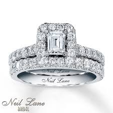 neil lane engagement rings jared neil lane bridal set 1 7 8 ct tw diamonds 14k white gold