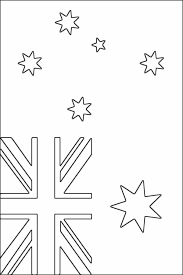 australian flag coloring free printable coloring pages