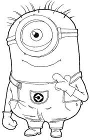 despicable me printable coloring pages one eye minion despicable
