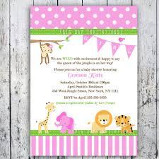 Baby Shower Invitation Cards Templates Safari Baby Shower Invitations Theruntime Com