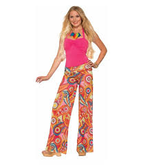 Flower Power Halloween Costume Buy Womens 70s Hippie Dancer Flower Power Yoga Pants