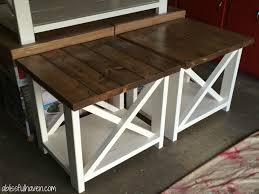 diy farmhouse end tables diy projects pinterest diy diy farmhouse end tables