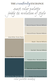 guest color palette jenny from evolution of style collection warm guest color palette jenny from evolution of style collection warm transitional paint colors monday