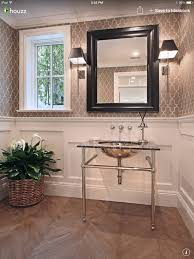 Small Powder Room Wallpaper Ideas Graphic Wallpaper Above The Chair Rail Dining Room