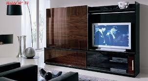 Tv Cabinet Wall Design Modern Italian Lcd Black Wall Unit Design Ipc217 Lcd Tv Cabinet