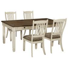 signature design by ashley bolanburg relaxed vintage 5 piece table