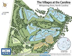 Map Of The Villages Florida by Villages At The Carolina New Homes In Southern Pines Nc H U0026h Homes