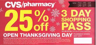 thanksgiving day sale cvs black friday 2016 ad 25 off u2013 3 day shopping pass 26 u2013 28th