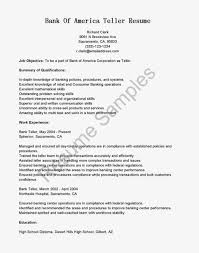 Retail Professional Summary Sample Application Letter For Bank Teller With No Experience