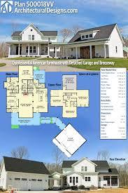 plan 31528gf modern farmhouse plan with wrap around porch and